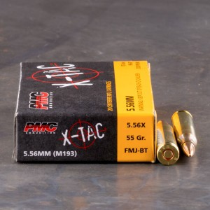 1000rds - 5.56 PMC X-TAC 55gr. (XP193) Full Metal Jacket Ammo
