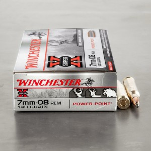 20rds - 7mm-08 Rem. Winchester 140gr. Super-X Power Point Ammo