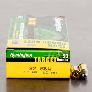 50rds - 32 S&W Remington Target 88gr. LRN Ammo