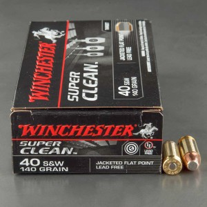 50rds – 40 S&W Winchester Super Clean 140gr. JFP Ammo