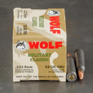 500rds - .223 WPA Military Classic 55gr. FMJ Ammo